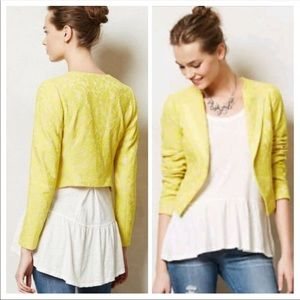 Elevenses for Anthropologie SZ 6 CITRUS Blazer